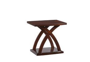 Progressive Furniture T272-04 West Wind Contemporary Rectangular End Table Espresso