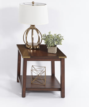 Sydney Transitional Square Lamp Table Dark Ash/ Copper Metal