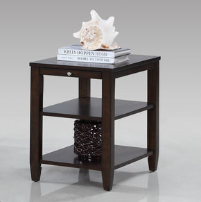 Paladium Transitional Chairside Table Dark Primavera