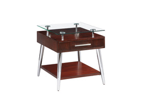 Studio City Contemporary Legged End Table Dark Mozambique