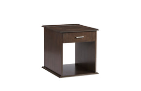 Progressive Furniture T474-04 Xanadu Contemporary Rectangular End Table Dark Espresso