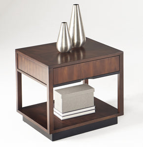 Progressive Furniture T514-02 Sophisticate Contemporary Square Lamp Table Prima Vera