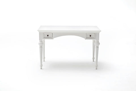 Nova Solo T773 Provence Desk White semi-gloss paint with a smooth top coat.
