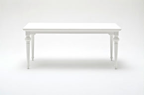 "Nova Solo T777 Provence 71"" Dining Table White semi-gloss paint with a smooth top coat."