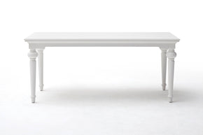 "Nova Solo T783 Provence 79"" Dining Table White semi-gloss paint with a smooth top coat."