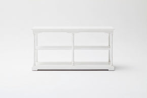 Bordeaux Kitchen Console Medium w/ 4 boxes White Distressed
