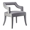 Tov Furniture TOV-A210 Tiffany Grey Velvet Chair