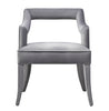 Tiffany Grey Velvet Chair