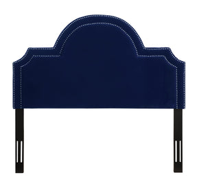 Laylah King Headboard in Pebbled Velvet