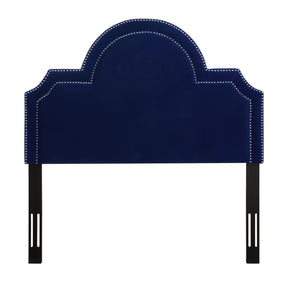 Laylah Full Headboard in Pebbled Velvet