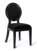 Cerused Oak Black Chair (Set of 2)