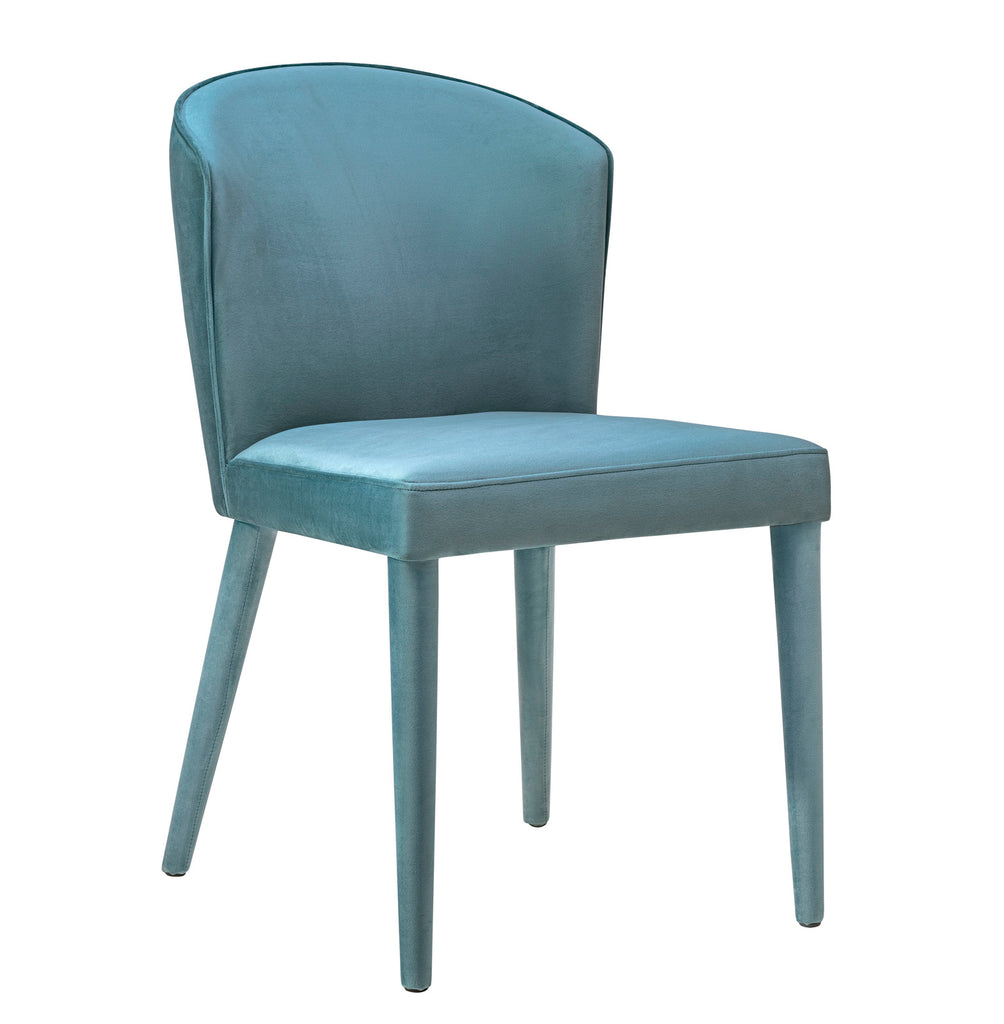 Buy Tov Furniture Tov D57 Metropolitan Sea Blue Velvet Chair At