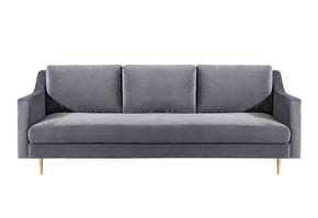 Tov Furniture TOV-L4111 Milan Grey Velvet Sofa