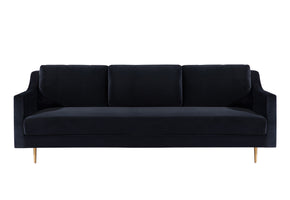 Tov Furniture TOV-L4112 Milan Black Velvet Sofa