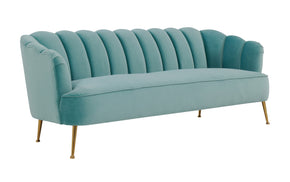 Tov Furniture TOV-L4920 Daisy Petite Sea Blue Velvet Sofa
