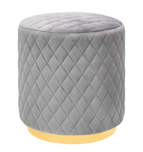 Tov Furniture Abir Grey Velvet Ottoman Brushed Gold Base TOV-O135 | 806810354919| $99.80. Ottomans - . Buy today at http://www.contemporaryfurniturewarehouse.com