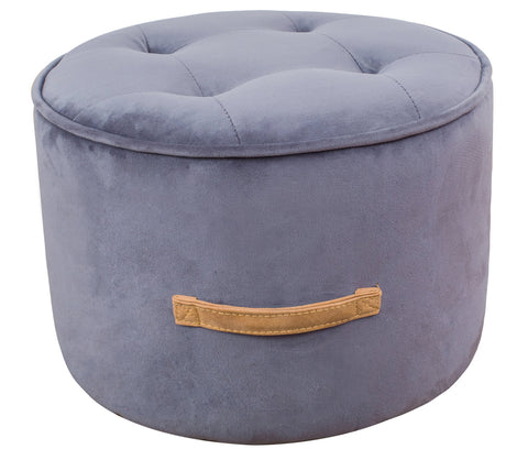 Tov Furniture TOV-OC3809 Luna Grey Velvet Ottoman