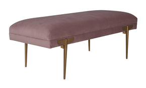 Tov Furniture TOV-OC6210 Brno Mauve Velvet Bench