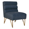 Kelly Slub Blue Velvet Chair