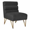 Kelly Slub Grey Velvet Chair