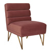 Kelly Slub Salmon Velvet Chair