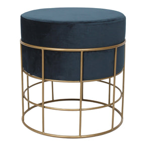 Moe's Home Collection TY-1030-19 Horton Stool Blue Dark Blue