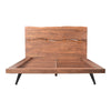 Madagascar Platform Bed Queen Live-edge Natural Wood
