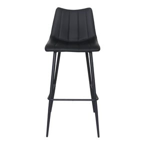 Moe's Home Collection UU-1003-02 Alibi Bar Stool Matt Black-Set Of Two