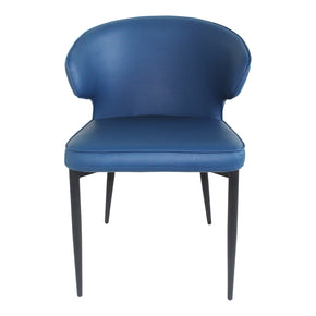 Moe's Home Collection UU-1006-19 Decca Dining Chair Blue-Set Of Two