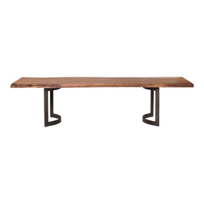 Moe's Home Collection VE-1036-03 Bent Dining Table Extra Small Smoked