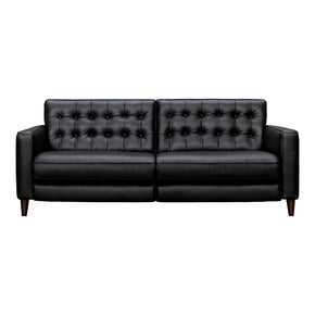 Moe's Home Collection VI-1141-02 Russell Reclining Sofa Leather Black