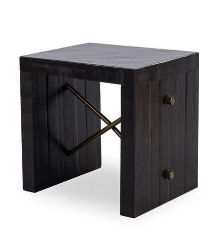 Sicily Modern Industrial Rustic Side Table