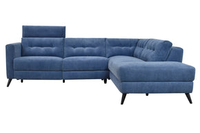 Moe's Home Collection WH-1017-46-R Beaumont Power Sectional Right Navy Navy Blue