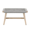 Weave Outdoor Accent Stool Platinum Rope, Gray Teak