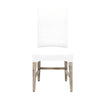 Willa Dining Chair (Set of 2) White Faux Hyde, Natural Gray