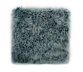 Moe's Home Collection XU-1005-36 Lamb Fur Pillow Large Teal Snow Teal