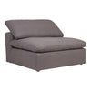 Clay Armless Chair Livesmart Fabric Light Grey