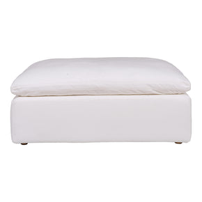 Moe's Home Collection YJ-1002-05 Clay Ottoman Livesmart Fabric Cream