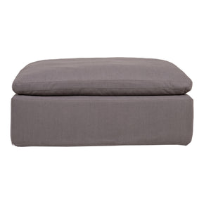 Ottomans - Moes Home Collection YJ-1002-29 Clay Ottoman Fabric Livesmart Light Grey | 840026409728 | Only $855.00. Buy today at http://www.contemporaryfurniturewarehouse.com
