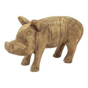 Moe's Home Collection YZ-1005-24 Wooden Piglet