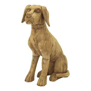 Moe's Home Collection YZ-1007-24 Wooden Sitting Dog