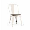 Dining Chairs - Design Lab MN LS-9000-CREW Dreux Glossy Cream Elm Wood Stackable Side Chair (Set of 4) | 640746589386 | Only $284.80. Buy today at http://www.contemporaryfurniturewarehouse.com