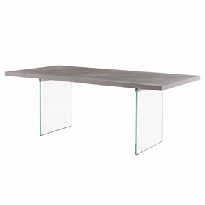 "New Pacific Direct 6300038 Rivera 79"" Concrete Dining Table Concrete Gray"