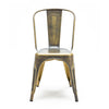 Dreux Vintage Brass Steel Stackable Side Chair (Set of 2)