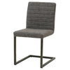 New Pacific Direct 3400022-266 Gerald PU Leather Chair (Set of 2) Kalahari Gray