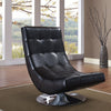Accent Chairs - Armen Living LC3634CLBL Mario Swivel Chair Black Bonded Leather | 700220756045 | Only $297.00. Buy today at http://www.contemporaryfurniturewarehouse.com