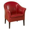 Leather Club Chair Red