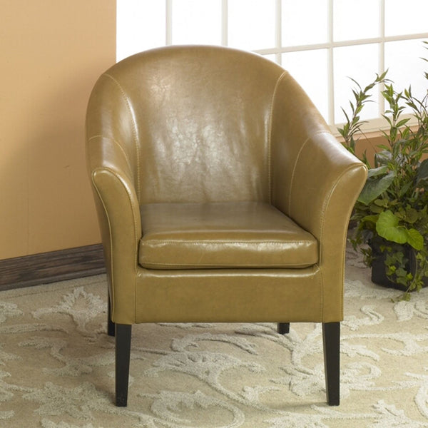 Leather Club Chair Carmel Accent