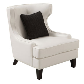 Skyline Chair In White Bonded Leather Accent