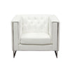 Accent Chairs - Diamond Sofa CHELSEACHWH Chelsea Leatherette Chair with Metal Leg - White | 642125443647 | Only $549.00. Buy today at http://www.contemporaryfurniturewarehouse.com